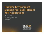 Runtime Environment Support for Fault-Tolerant MPI Applications