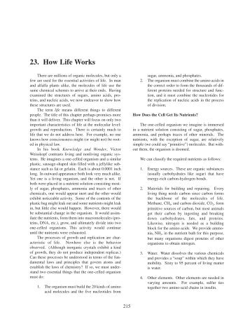 Chapter 23: How Life Works