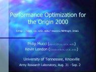 MPP Performance Optimization - Innovative Computing Laboratory