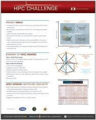 hpc challenge - Innovative Computing Laboratory - The University of ...
