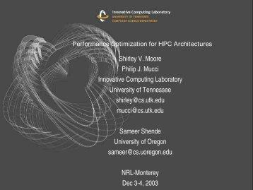 cache line - Innovative Computing Laboratory