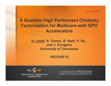 A Scalable High Performant Cholesky Factorization ... - ResearchGate