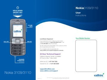 Nokia 3109/3110 - Cellhire