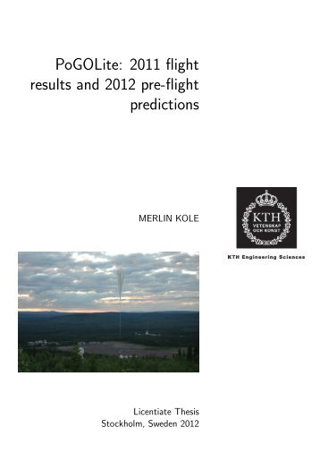 Licentiate - KTH Particle and Astroparticle Physics - Kungliga ...