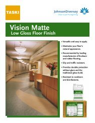 TASKI Vision Matte Low Gloss Floor Finish • Versatile and easy to ...