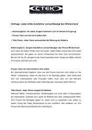 CTEK_PR Umfrage Wintercheck - Albert Media Marketing