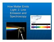 How Matter Emits Light: 2. Line Emission and Spectroscopy