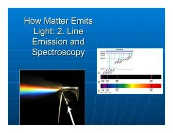 How Matter Emits Light: 2. Line Emission and Spectroscopy