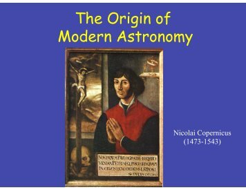 Tides. The Birth of Modern Astronomy - UMass Astronomy ...