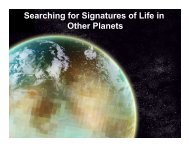 Searching for Signatures of Life in Other Planets