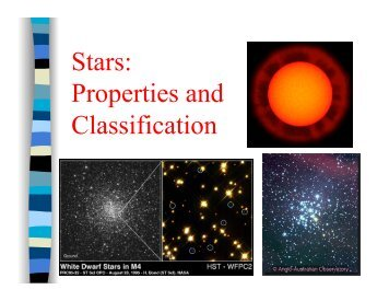 Stars: Properties and Classification
