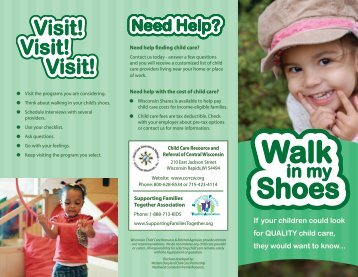Walk in my Shoes-Quality Child Care Checklist
