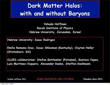 Dark Matter Halos: with and without Baryons [pdf ... - CLUES-Project