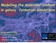 Modelling the molecular content in galaxy ... - CLUES-Project