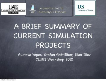 pdf: CLUES Simulation Summary - CLUES-Project