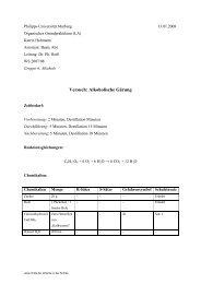 Versuch: Alkoholische Gärung - ChidS.de