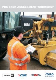 Pre-Task Assessment Guide View - Finning (UK)