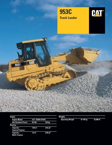 Specalog for 953C Track Loader, AEHQ5541-02 ... - Finning (UK)