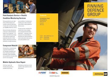 Finning Defence Group Find out more - Finning (UK)