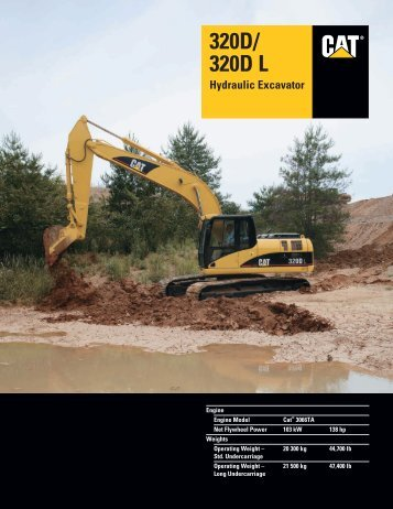Specalog for 320D/320D L Hydraulic Excavator ... - Finning (UK)