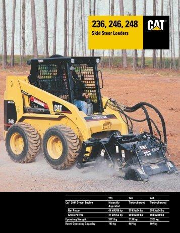 Caterpillar® 236, 246 and 248 Skid Steer Loaders - Finning (UK)