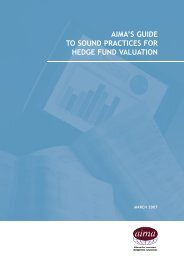 Guide to Sound Practices for Hedge Fund Valuation - AIMA