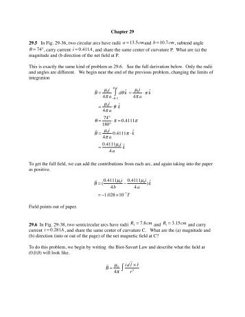 Chapter 29 Homework Solutions