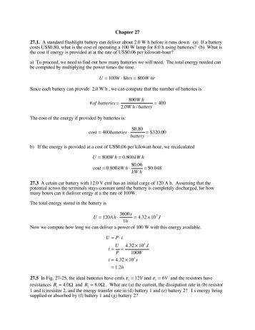Fundamentals of Physics 7th Edition solution Manual