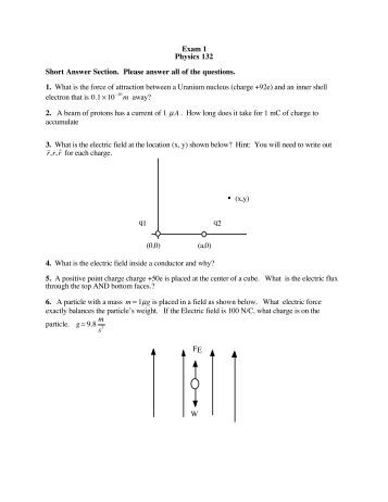 Exam 1 short answers   Research paper - June 2019 - 1810 words