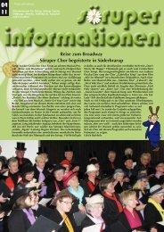 Reise zum Broadway Söruper Chor begeisterte in Süderbrarup