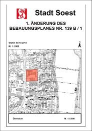 Bebauungsplanentwurf - Soest
