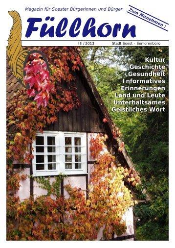 """""""Füllhorn"""" Ausgabe 03/2013. - Soest"""