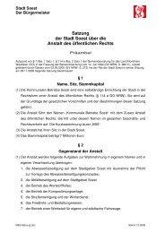 Satzung der Stadt Soest über die Anstalt des öffentlichen Rechts