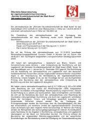 Jahresabschluss 2010 - Soest