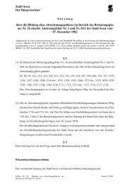 B-Plan Nr. 26 - Bildung von Abrechungsgebieten im Bereich ... - Soest