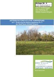 Artenschutzrechtliche Prüfung (ASP) - Soest