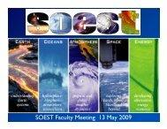 SOEST Faculty Meeting 13 May 2009 - SOEST - University of Hawaii
