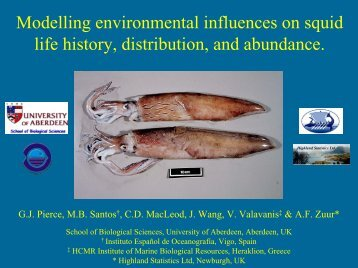 Modelling environmental influences on squid life history ... - SOEST