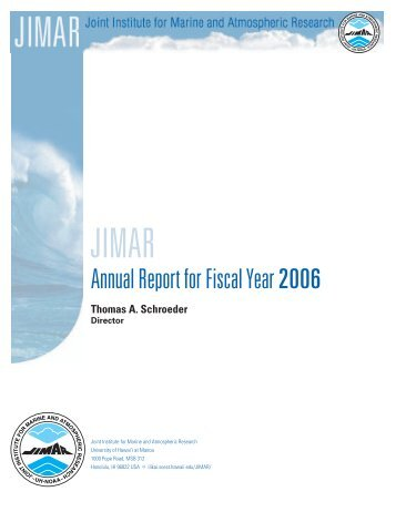 Annual Report for Fiscal Year 2006 - SOEST - University of Hawaii