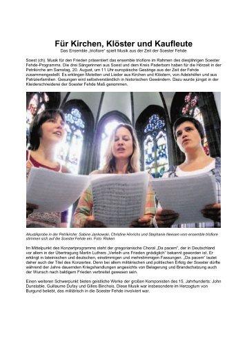 Für Kirchen, Klöster und Kaufleute - Die Soester Fehde