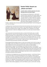"Soester Fehde: Konzert um ""Johann von Soest"" - Die Soester Fehde"