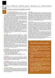 Conditions générales d'acceptation en dépôt - Corneille Soeteman