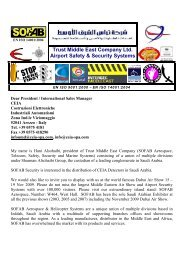 Trust Middle East Company Ltd. Airport Safety & Security ... - Sofab.net