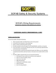 SOFAB Safety & Security Systems - Sofab.net
