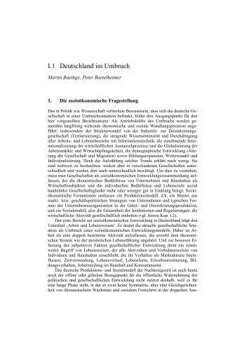 Berichterstattung zur sozioökonomischen Entwicklung in ... - SOFI