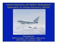 Infrared Astronomy with NASA s Stratospheric ... - SOFIA - USRA
