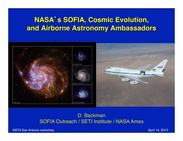 NASA's SOFIA, Cosmic Evolution, and Airborne ... - SOFIA - USRA