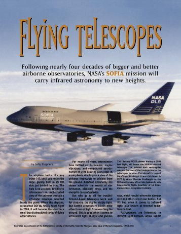 Flying Telescopes - SOFIA - USRA