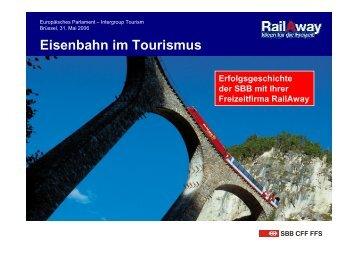 Eisenbahn im Tourismus
