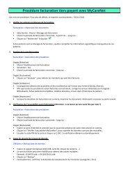 Procédure facturation tiers payant avec MyCareNet - Soft33
